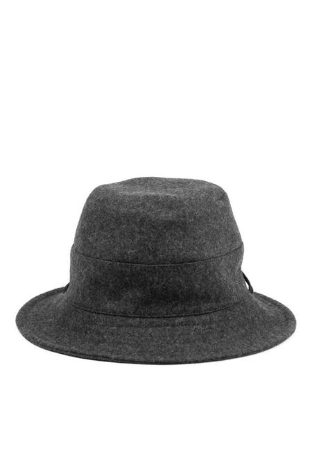 Tsuyumi Bucket Hat With String - Charcoal