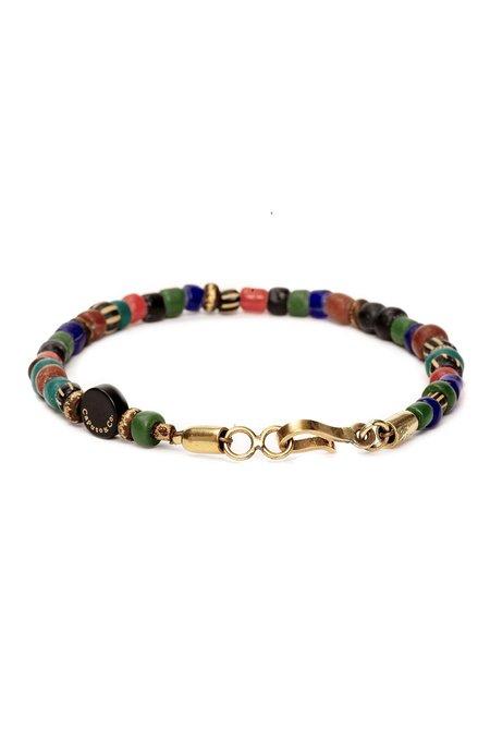 Caputo & Co Glass and Brass Bead Bracelet - Multi Color