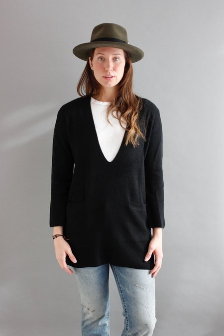 LeKasha Cashmere Tunic - Black