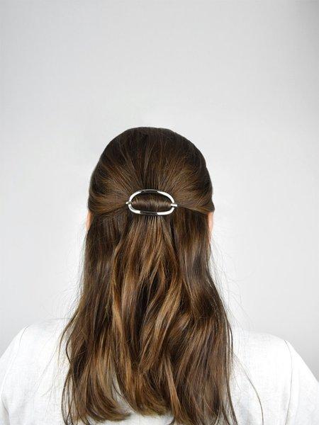 IGWT Jewelry Rosen Latch Barrette - White Brass