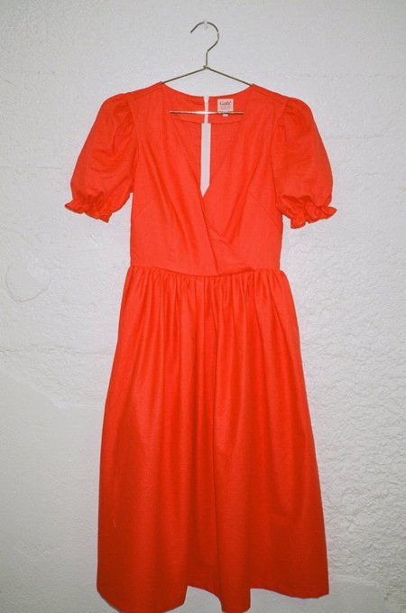 Lisa Says Gah Topanga Midi Linen Dress - Ruby