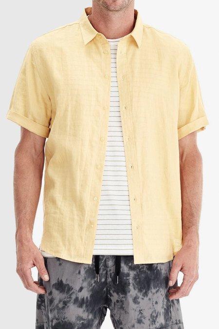 COMMONERS Classic Linen SS Shirt - Yellow