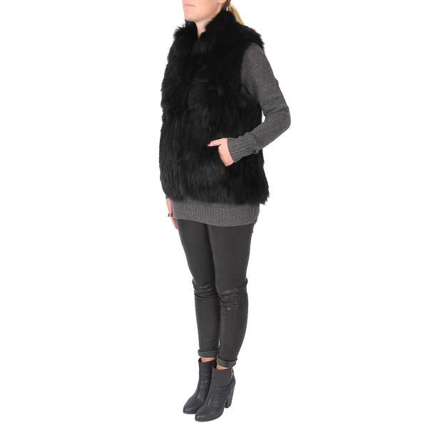 Theory Hanalee Knit Fur Vest