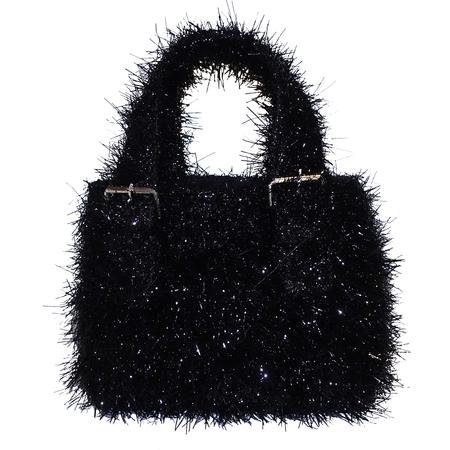 ALFEYA VALRINA Pasar mini tote - Black Fuzzy