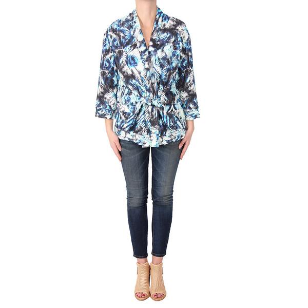 IRO Fayra Blue Wrap Jacket