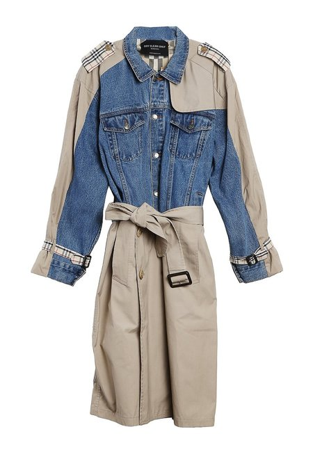 dry clean only Buci Jean Applique Trench Coat