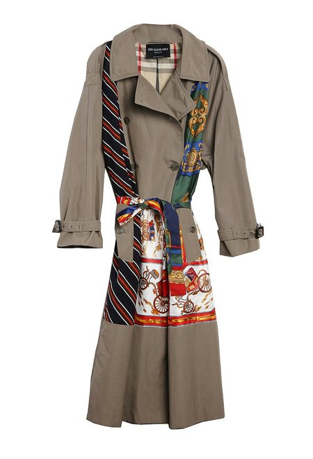 dry clean only Grenelle Trench Coat with Scarf Applique