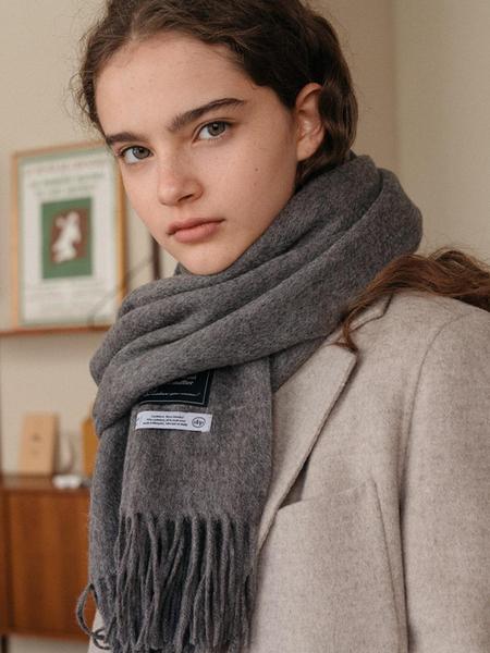 DEPOUND Cashmere-wool Blended Muffler - Gray
