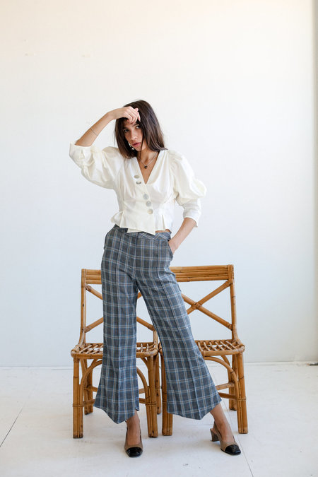 House of Sunny Slim Tailored Trousers - Academic Check
