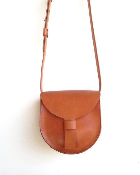 Sara Barner Small Saddle Bag - Tan