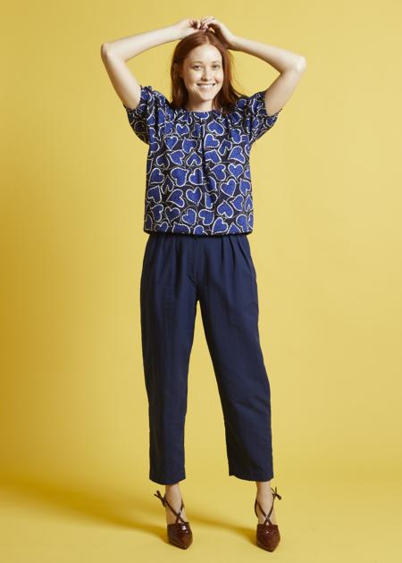 Nikki Chasin Sol Pleat Trouser - Navy