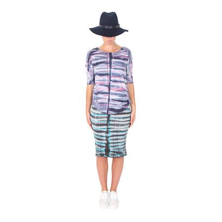 Raquel Allegra Layering Tank Dress - Tie Dye Turquoise