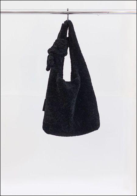 Anita Bilardi Fuzz Tote - BLACK