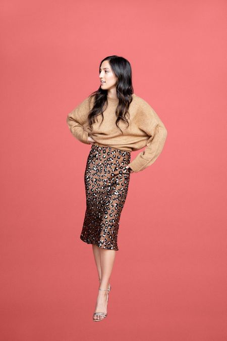 BETWEEN TEN Gaby Midi Skirt - Leopard