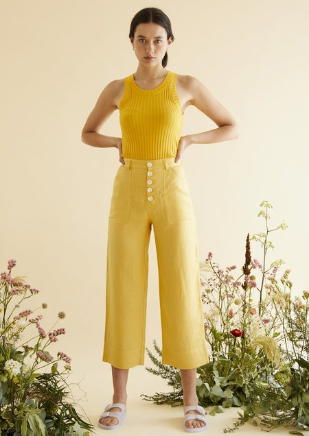 hej hej Man Repeller Pants - Sunflower