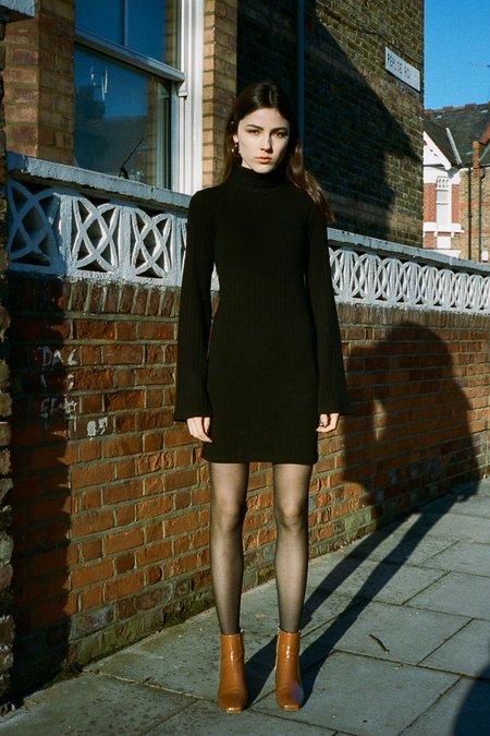 Side Party Gigi Mini Textured Dress - BLACK