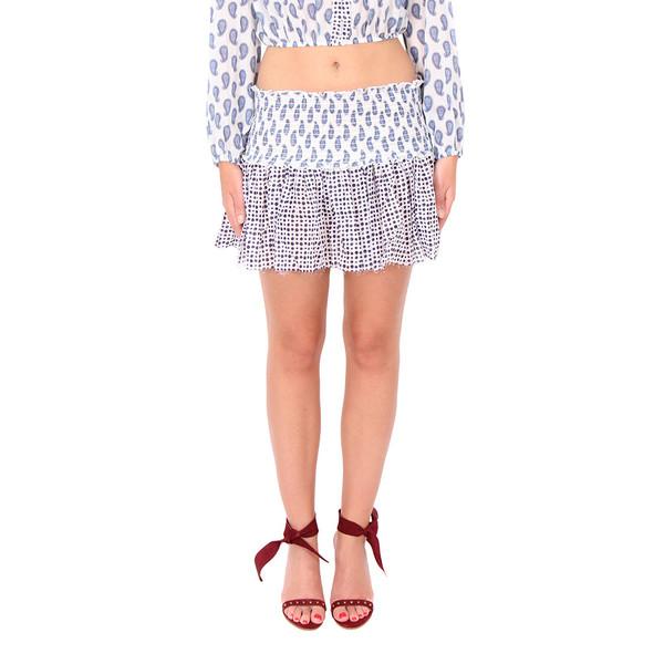 LOVESHACKFANCY Paisley Print Beach Mini Skirt