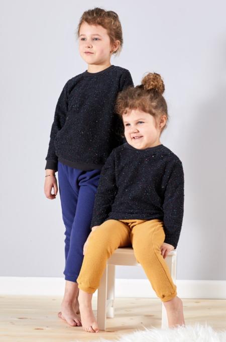 KIDS North Of West Pebble Knit Baby Sweatshirt - BLACK
