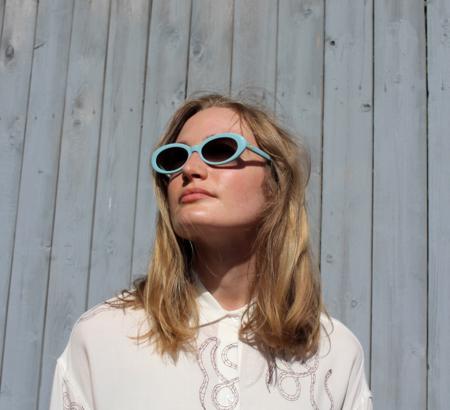 Crap Eyewear Sweet Leaf Sunglasses - Sky Blue