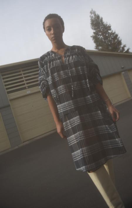 Christian Wijnants Dakira Dress - Checks Anthracite