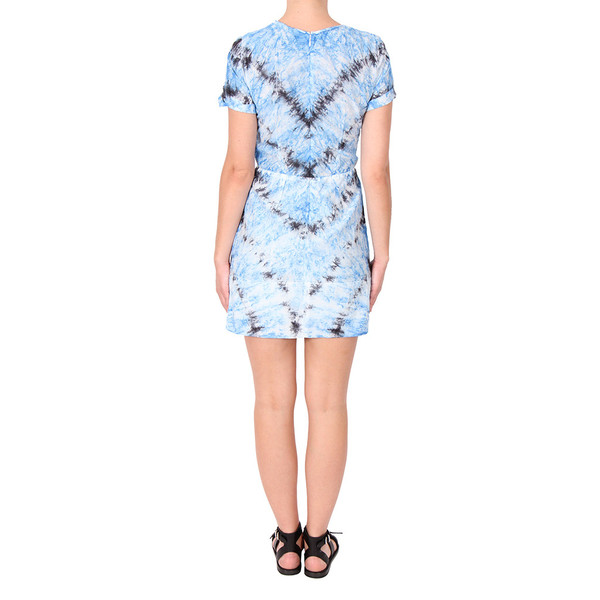 Raquel Allegra Silk and Cotton Voile Tee Dress