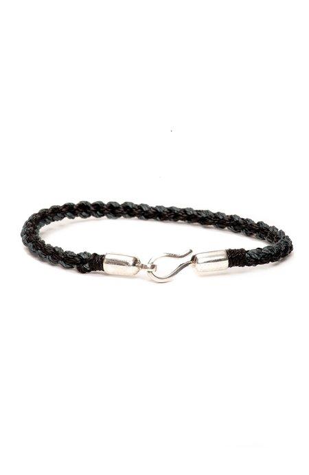 Caputo & Co Nylon Hand-Braided Bracelet - Black/Gray