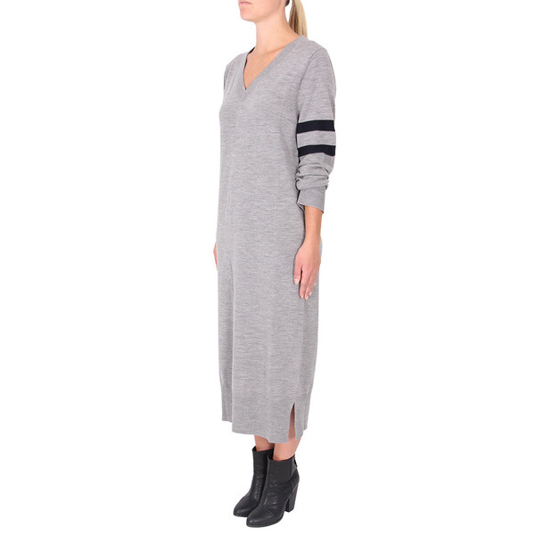 T By Alexander Wang Rugby Stripe Column Dress