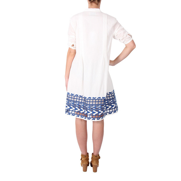 Sea Embroidered Shirt Dress