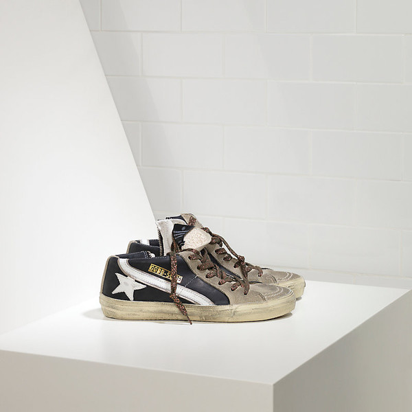 Golden Goose Slide Sneakers with Leather star