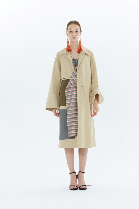 Ports 1961 Single Breasted Coat PW118CSB53-FCOU128 - Sand