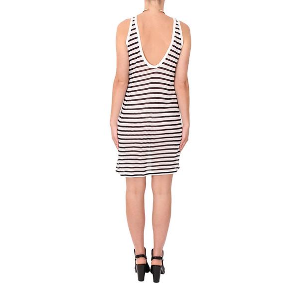 T by Alexander Wang Stripe Linen Tank Dress