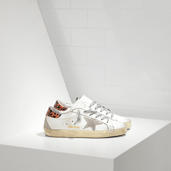 Golden Goose Superstar in Leather with Suede Star