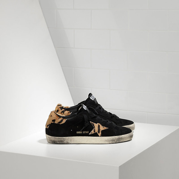 Golden Goose Superstar in Nubuck Leather and Pony-Skin Star