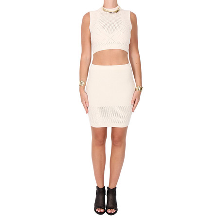 T by Alexander Wang Intarsia Knit Skirt