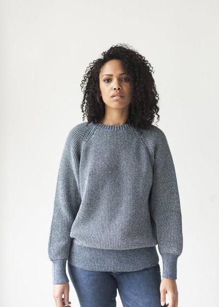 Esby Andy Fisherman Sweater - Denim Blue