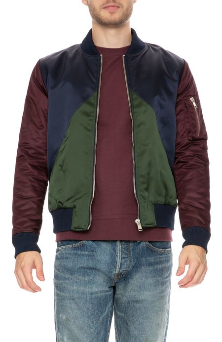 The Goodpeople Bombilicious Colorblock Bomber Jacket - Navy/Green/Bordeaux