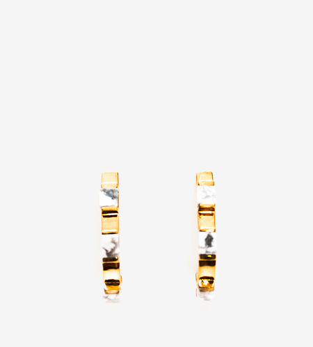 Luz Ortiz Cubik Howlite Earrings