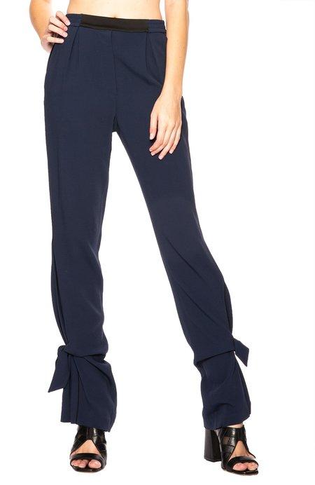 Jonathan Simkhai Combo Tie Pant - Midnight/Black