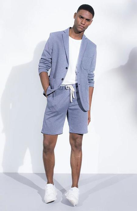The Goodpeople D'or Twill Drawstring Shorts - Mid Blue