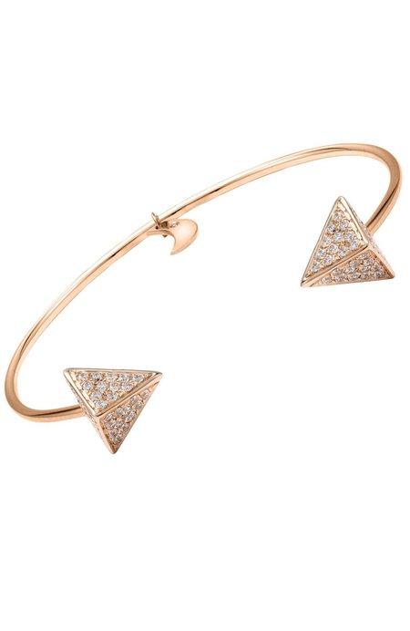 BETTINA JAVAHERI Diamond Pyramid Cuff