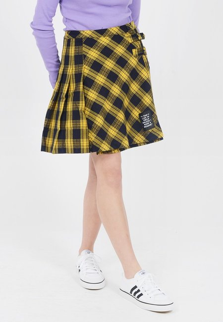 Lazy Oaf X Daria Don't Like To Smile Skirt - Yellow