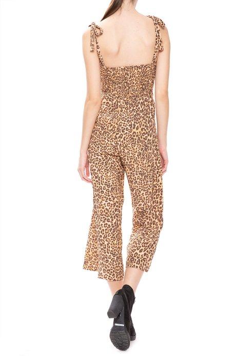 Faithfull The Brand Elsa Leopard Capri Jumpsuit - Mila Animal Print