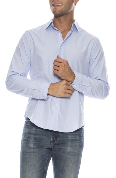 Alex Mill End on End School Shirt - LIGHT BLUE