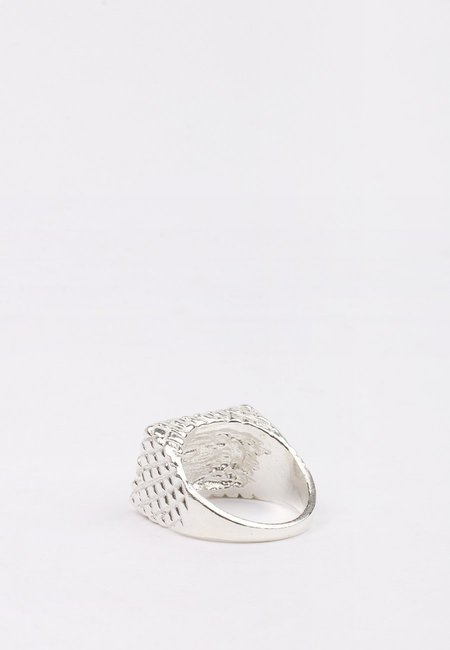 Unisex 27mollys XX Brick Ring - Silver