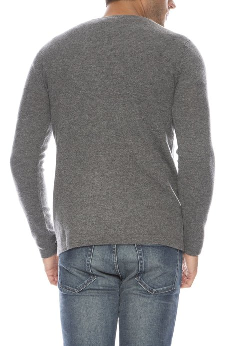TODAY IS BEAUTIFUL x RON HERMAN Exclusive Cashmere V-neck Sweater - BANKER GREY