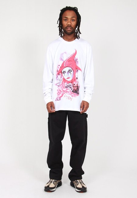 Perks and Mini Playing The Fool Long Sleeve T-Shirt - White