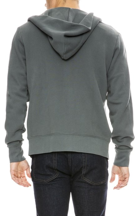 Alex Mill French Terry Zip Up Hoodie - SILVER PINE
