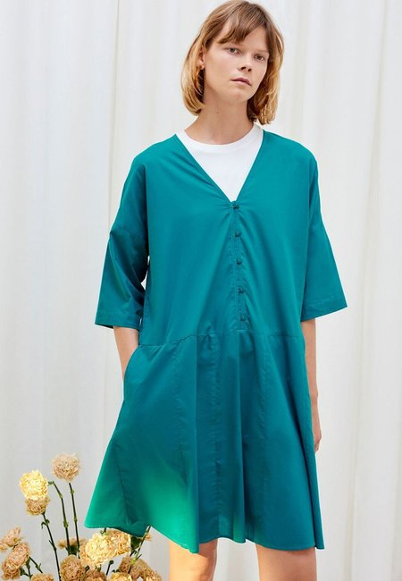 Kowtow Reflection Dress - Emerald