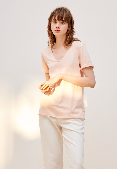 Kowtow Building Block V T-Shirt - Light Pink