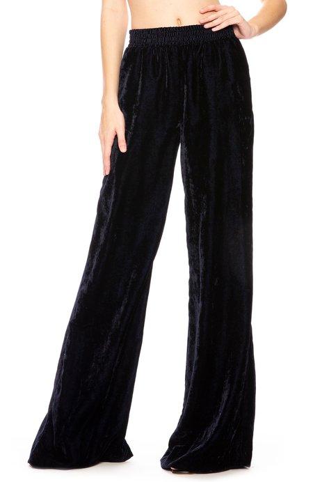 Nili Lotan Harlow Velvet Pants - Dark Navy